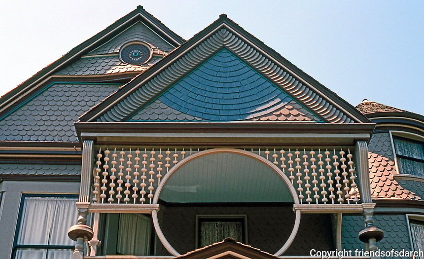 Los Angeles: Sessions House, Angelina Heights-- Victorian detail. Joseph Cather Newsome.