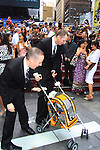 Marlow (African Gray) at the wedding of We Love Soaps  Roger Newcomb and Kevin Mulcahy Jr on August 18, 2012 in Times Square, New York City, New York. (Photos by Sue Coflin/Max Photos)