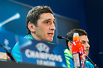 Tayfun Korkut coach of Bayern 04 Leverkusen during the press conference before the match of Uefa Champions League between Atletico de Madrid and Bayern Leverkusen at Vicente Calderon Stadium  in Madrid, Spain. March 14, 2017. (ALTERPHOTOS / Rodrigo Jimenez)