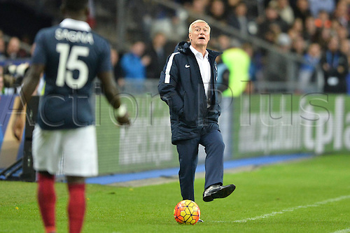 13.11.2015. Stade de France, Paris, France. International football friendly. France versus Germany.  DIDIER DESCHAMPS (SELECTIONNEUR EQUIPE DE FRANCE DE FOOTBALL) . The game was parially interupted as the paris terror attacks took place and bombs were heard going off outside the stadium.
