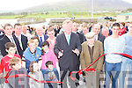 John O'Donoghue cuts the tape to officially open the Caherciveen Rowing club boathouse on Sunday   Copyright Kerry's Eye 2008
