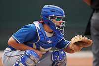 Texas Rangers David Lyon (17) during an instructional league game against the Los Angeles Angels / Chicago Cubs co-op team on October 5, 2015 at the Surprise Stadium Training Complex in Surprise, Arizona.  (Mike Janes/Four Seam Images)