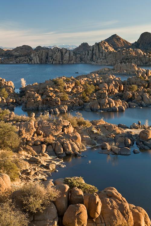 View of granite rocks at Watson Lake, Arizona