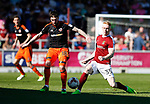 Kieron Freeman of Sheffield Utd in action with Luke Williams of Northampton during the English League One match at Sixfields Stadium Stadium, Northampton. Picture date: April 8th 2017. Pic credit should read: Simon Bellis/Sportimage