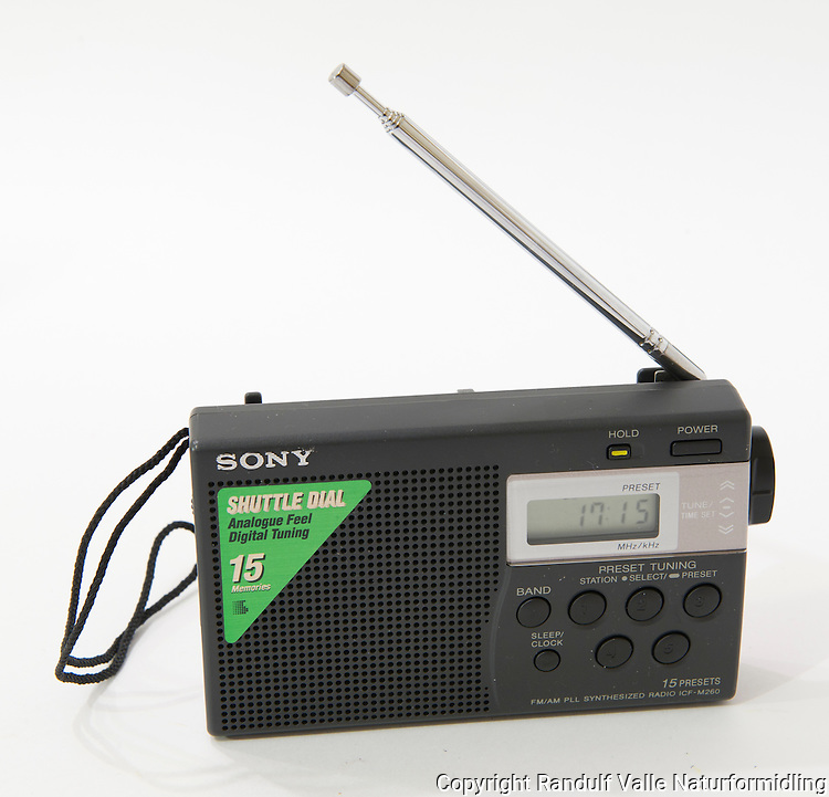 Liten radio for turbruk. ----- Small radio.