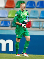 USA's goalkeeper Cody Cropper during their FIFA U-20 World Cup Turkey 2013 Group Stage Group A soccer match Ghana betwen USA at the Kadir Has stadium in Kayseri on June 27, 2013. Photo by Aykut AKICI/isiphotos.com