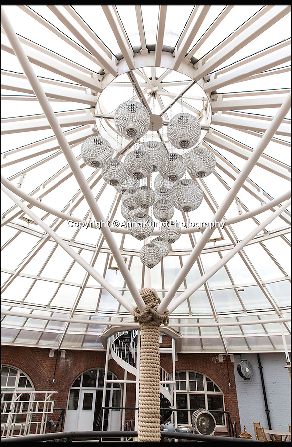 BNPS.co.uk (01202 558833)<br /> Pic: AnnaKunstPhotography/BNPS<br /> <br /> ***Please Use Full Byline***<br /> <br /> Stunning atrium...<br /> <br /> The No Mans Fort. <br /> <br /> Impregnable Hotel off the south coast...<br /> <br /> A Victorian sea fort has been transformed into the ultimate luxury hotel with two helicopter pads, its own nightclub, laser tag, a rooftop hot tub and even a lighthouse.<br /> <br /> No Man's Fort sits 2km out at sea and can only be reached by boat or helicopter. It is the second sea fort to be transformed by AmaZing Venues into an incredibly party venue for those with a big enough budget.<br /> <br /> The company spent £3million transforming Spitbank Fort, which opened in 2012, and this new sister venue is three times as big.