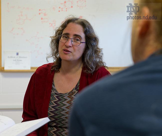 Jul. 24, 2013; Prof. Marya Lieberman holds a meeting.<br /> <br /> Photo by Matt Cashore/University of Notre Dame
