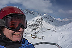 Riding Albona Chair 1 at Stuben Ski Area, St Anton, Austria