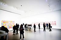 Illustration Ambiance / Andy Warhol - Boites de Soupe Campbell<br /> Guitare electrique Fender Stratocaster<br /> Jasper Johns - Map<br /> Parigi 16-10-2017 MoMa <br /> Esposizione Arte moderna <br /> Foto JB Autissier / Panoramic / Insidefoto