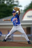 August 25, 2005:  Pitcher Kristian Bell of the Auburn Doubledays before a game at Dwyer Stadium in Batavia, NY.  Auburn is the Short Season Single-A NY-Penn League affiliate of the Toronto Blue Jays.  Photo By Mike Janes/Four Seam Images