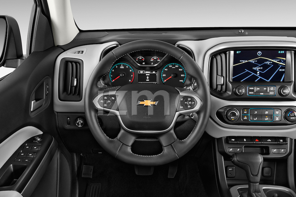 Car pictures of steering wheel view of a 2017 Chevrolet Colorado LT Crew Cab Long Box 4 Door Truck Steering Wheel