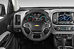 Car pictures of steering wheel view of a 2015 Chevrolet Colorado LT Crew Cab Long Box 4 Door Truck Steering Wheel