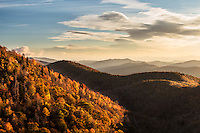 Autumn colors from Grassy Ridge Overlook, Blue Ridge Parkway, North Carolina