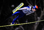 Fumihisa Yumoto of Japan soars through the night skies during the FIS World Cup Ski Jumping in Sapporo, northern Japan in February, 2008.