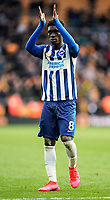 7th March 2020; Molineux Stadium, Wolverhampton, West Midlands, England; English Premier League, Wolverhampton Wanderers versus Brighton and Hove Albion; Yves Bissouma of Brighton & Hove Albion applauds the fans