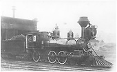 3/4 engineer's-side view of D&amp;RG Ten-Wheeler #162 outside the Chama engine house.<br /> D&amp;RG  Chama, NM  ca. 1890