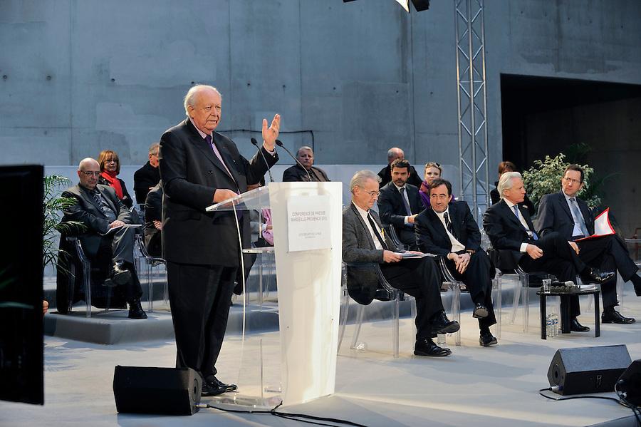 conférence de presse sur l'état d'avancement de Marseille Provence 2013 -  jeudi 24 février - à la Cité des Arts de la Rue.- Marseille 2011