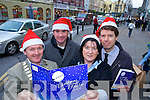 CHRISTMAS GUIDE: Launching the 'Christmas in Tralee Guide 2008' on Tuesday last were l-r: James Clifford (President of Tralee Chamber), Jason O'Mahony (Samhlaiocht), Bernie Griffin (Tralee Chamber) and Peter Harty (CH Chemists).   Copyright Kerry's Eye 2008
