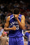 Kentucky forward Randolph Morris (33) reacts after missing a shot.  Connecticut defeated Kentucky 87-83 in the second round of the NCAA Tournament  at the Wachovia Center in Philadelphia, Pennsylvania on March 19, 2006.