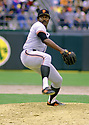 CIRCA 1980's:  Vida Blue #14 of the San Francisco Giants, pitching during a game from his career with the San Francisco Giants,.  Vida Blue played for 17 years with 3 different teams, was a 6-time All-Star and was the 1971 American League MVP.(Photo by: 1980 : SportPics : Vida Blue