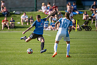 Kansas City, MO - Sunday May 07, 2017: Brittany Taylor, Marta Vieira Da Silva during a regular season National Women's Soccer League (NWSL) match between FC Kansas City and the Orlando Pride at Children's Mercy Victory Field.