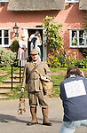 Filming a scene for Stanley's War film directed by Tim Curtis outside the Sorrel Horse pub, Shottisham, Suffolk, England, UK