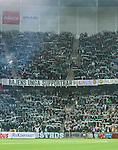 Stockholm 2015-10-25 Fotboll Allsvenskan Hammarby IF - Malm&ouml; FF :  <br /> Vy &ouml;ver Tele2 Arena med Hammarbys supportrar har halsdukshav p&aring; l&auml;ktarna efter matchen mellan Hammarby IF och Malm&ouml; FF <br /> (Foto: Kenta J&ouml;nsson) Nyckelord:  Fotboll Allsvenskan Tele2 Arena Hammarby HIF Bajen Malm&ouml; FF MFF supporter fans publik supporters inomhus interi&ouml;r interior
