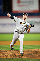 Trenton Thunder pitcher Alex Smith (21) delivers a pitch during a game against the Binghamton Mets on August 8, 2015 at NYSEG Stadium in Binghamton, New York.  Trenton defeated Binghamton 4-2.  (Mike Janes/Four Seam Images)