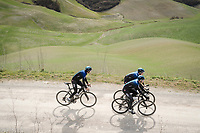 Geraint Thomas (GBR/SKY), Salvatore Puccio (ITA/SKY) & Owain Doull (GBR/SKY) during the Team SKY race reconnaissance 1 day prior to the 13th Strade Bianche 2019 (1.UWT)<br /> One day race from Siena to Siena (184km)<br /> <br /> ©kramon