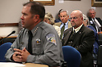 Nevada Assemblyman Ira Hansen, R-Sparks, listens to Chief Game Warden Tyler Turnipseed testify in a commitee hearing at the Legislative Building in Carson City, Nev., on Thursday, April 30, 2015. <br /> Photo by Cathleen Allison