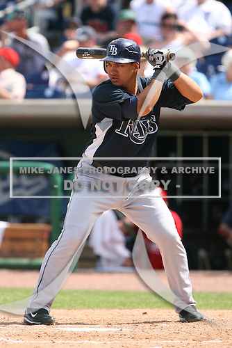 March 18th 2008:  Hector Gimenez of the Tampa Bay Devil Rays during a Spring Training game at Bright House Networks Field in Clearwater, FL.  Photo by:  Mike Janes/Four Seam Images