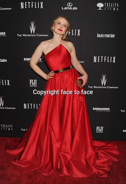 BEVERLY HILLS, CA- JANUARY 12: Actress Julie Delpy attends The Weinstein Company &amp; Netflix 2014 Golden Globes After Party held at The Beverly Hilton Hotel on January 12, 2014 in Beverly Hills, California.<br /> Credit: Mayer/face to face<br /> - No Rights for USA, Canada and France -