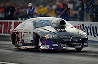 Oct. 31, 2008; Las Vegas, NV, USA: NHRA pro stock driver V Gaines during qualifying for the Las Vegas Nationals at The Strip in Las Vegas. Mandatory Credit: Mark J. Rebilas-