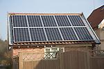 PV solar panels on garage roof