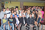Jamie Kennedy Beaufort seated centre who celebrated his 21st birthday in Sheahan's bar Milltown on Friday night