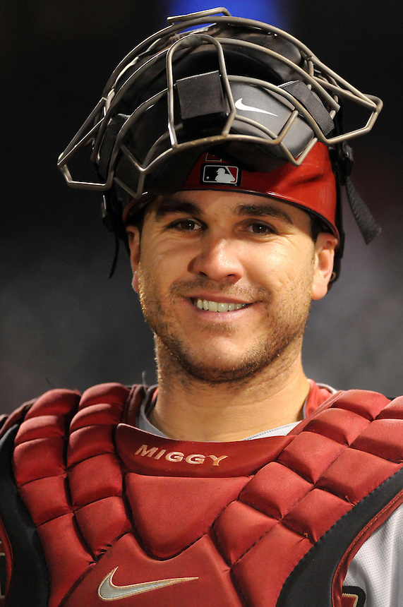 24 MAY 2011:   Arizona Diamondbacks catcher Miguel Montero (26)   during a regular season game between the Arizona Diamondbacks and the Colorado Rockies at Coors Field in Denver, Colorado. The Diamondbacks beat the Rockies 5-2 in second game of a split doubleheader.   *****For Editorial Use Only*****