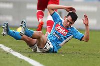 Hirving Lozano of Napoli dejection<br /> Napoli 14-01-2020 Stadio San Paolo <br /> Football Italy Cup 2019/2020 SSC Napoli - AC Perugia<br /> Photo Cesare Purini / Insidefoto
