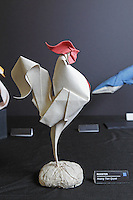 OrigamiUSA Convention 2015 Exhibition. Rooster model designed and folded by special guest Quyet Hoang Tien, Vietnam.
