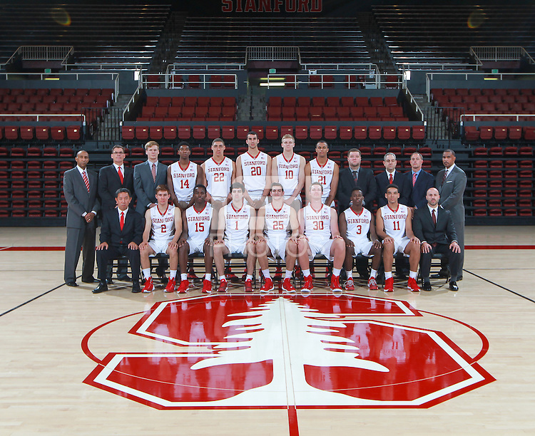 STANFORD, CA - OCTOBER 4, 2015--Stanford Men's Basketball team photo on the Stanford University campus.