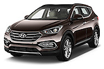 2016 Hyundai Santa-Fe Executive 5 Door Suv Angular Front stock photos of front three quarter view