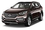 2016 Hyundai Santa-Fe Executive 5 Door Suv Angular Front stock photos of front three quarter view