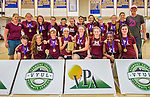 30 May 2015: The girls team from Lyndon Institute are awarded the Girls Championship award presented after the conclusion of the Vermont Youth Ultimate League 2015 High School State Championships at Milton Senior High School in Milton, Vermont. Mandatory Credit: Ed Wolfstein Photo *** RAW (NEF) Image File Available ***