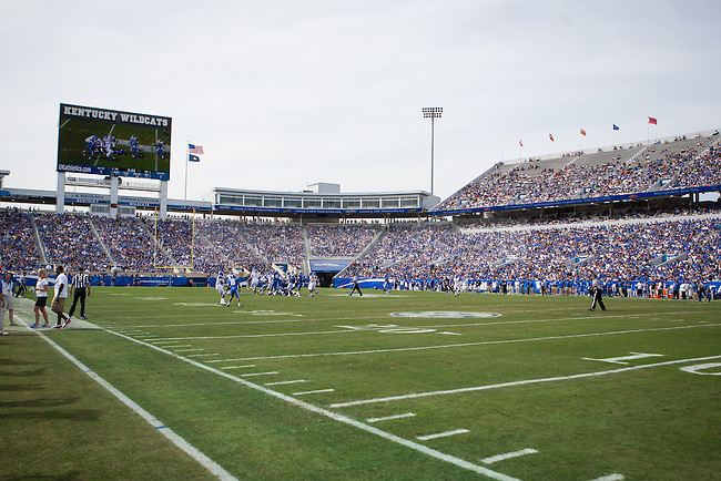 Kentucky fans filled Commonwealth Stadium for the Blue/White Spring Game in Lexington, Ky., on Saturday, April 26, 2014. Blue defeated White 38-14. Photo by Adam Pennavaria | Staff