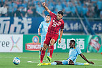 Shanghai FC Midfielder Akhmedov Odil (L) trips up with Jiangsu FC Midfielder Ramires Santos (R) during the AFC Champions League 2017 Round of 16 match between Jiangsu FC (CHN) vs Shanghai SIPG FC (CHN) at the Nanjing Olympic Stadium on 31 May 2017 in Nanjing, China. Photo by Marcio Rodrigo Machado / Power Sport Images