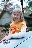 Daughter of US President Jimmy Carter, Amy Carter at home in St. Simens Island, Georgia December 29, 1978