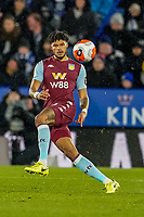 9th March 2020; King Power Stadium, Leicester, Midlands, England; English Premier League Football, Leicester City versus Aston Villa; Tyrone Mings of Aston Villa hits a long pass