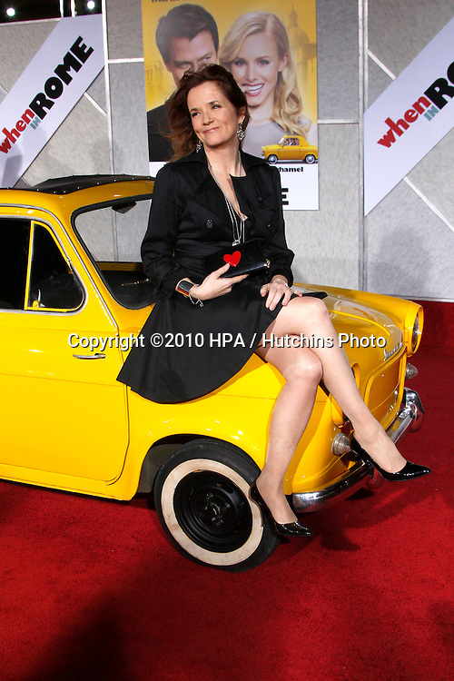 "Lea Thompson.arriving at the ""When in Rome"" World Premiere.El Capitan Theater.Los Angeles, CA.January 27, 2010.©2010 HPA / Hutchins Photo...."