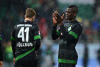 Fussball 1. Bundesliga :  Saison   2012/2013   9. Spieltag  27.10.2012 SpVgg Greuther Fuerth - SV Werder Bremen Nicolas Fuellkrug und Assani Lukimya (v. li., SV Werder Bremen)