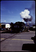 D&amp;RGW #473 K-28 crossing street north of station in Durango.l<br /> D&amp;RGW  Durango, CO